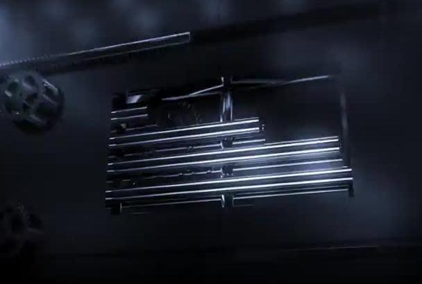 metalic door logo intro