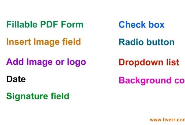 design, Create or Convert Fillable PDF Form