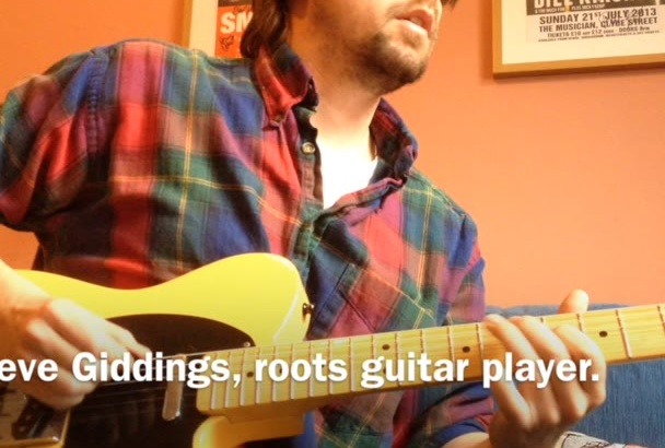 play a roots guitar solo on your musical project