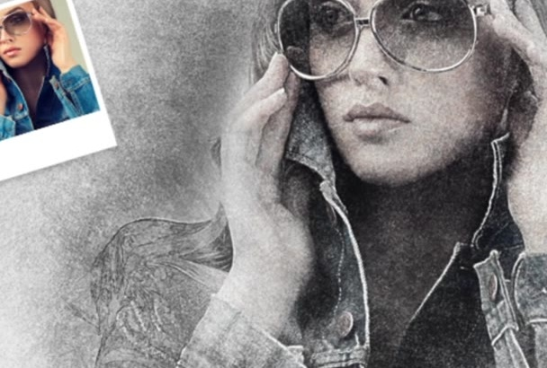 do AWESOME sketch effect on photo like pencil drawing