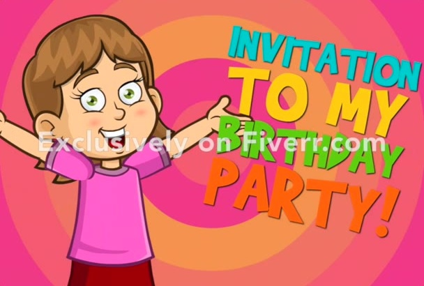 create a birthday party invitation