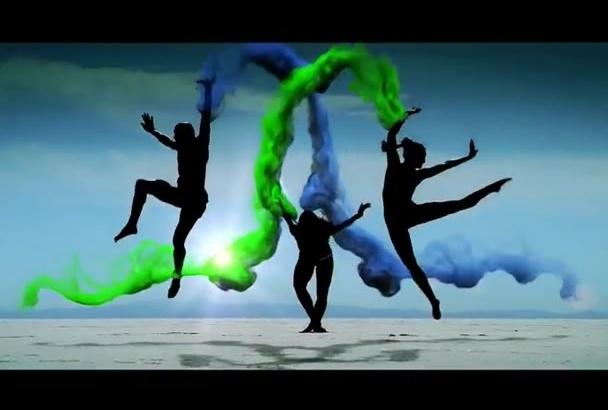 create Colorful charismatic smoke logo reveal