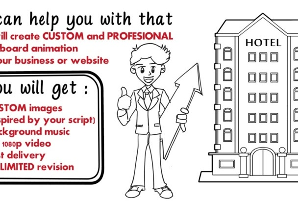 create professional custom whiteboard animation