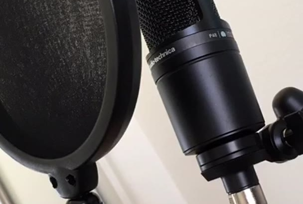 record a 300 word American Male VoiceOver in 24hrs