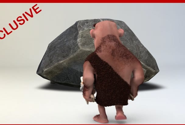 create awesome Caveman Video Intro