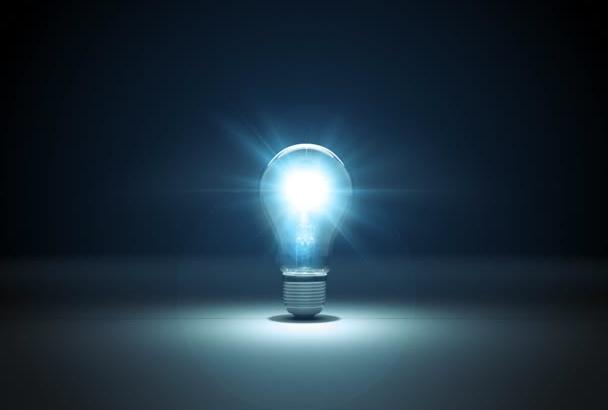 make this light bulb explosion logo reveal