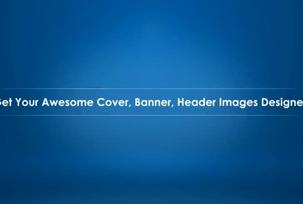 design your ATTRACTIVE banner or header image