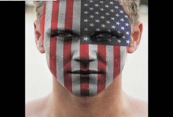 face paint your country flag
