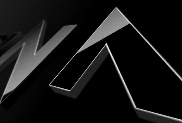 create a sophisticated 3d letter intro video