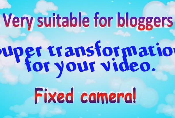 make videotransformer for your video blog