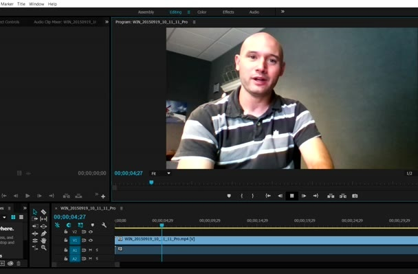 edit your raw video footage