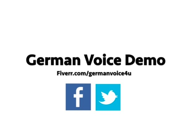 record a professional voice over in German