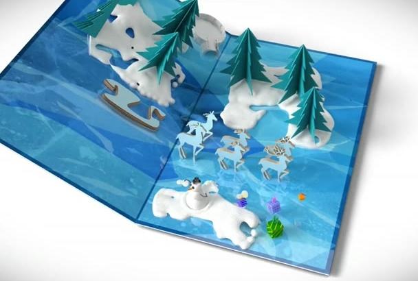 create CHRISTMAS card greeting to you