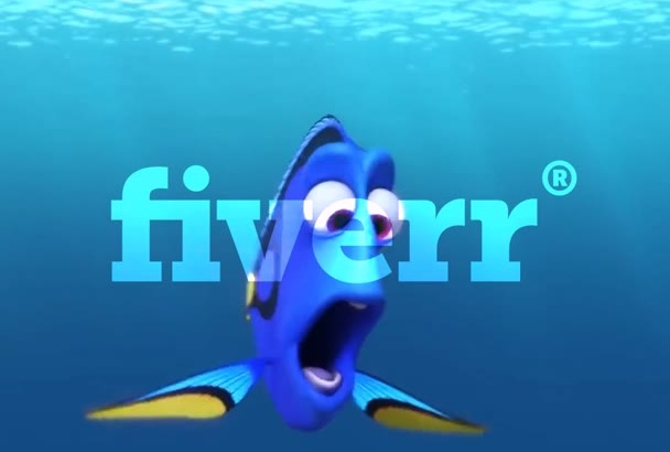 make a video with Dory watching you and your logo