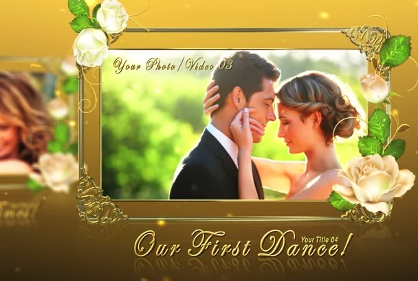 create WEDDING video for you