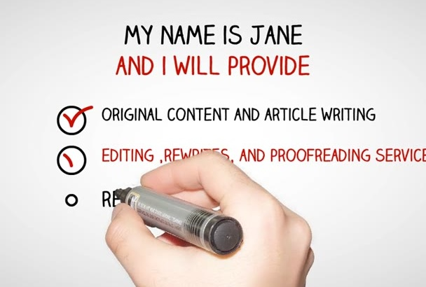 provide original content and article writing,editing ,rewrites, and more