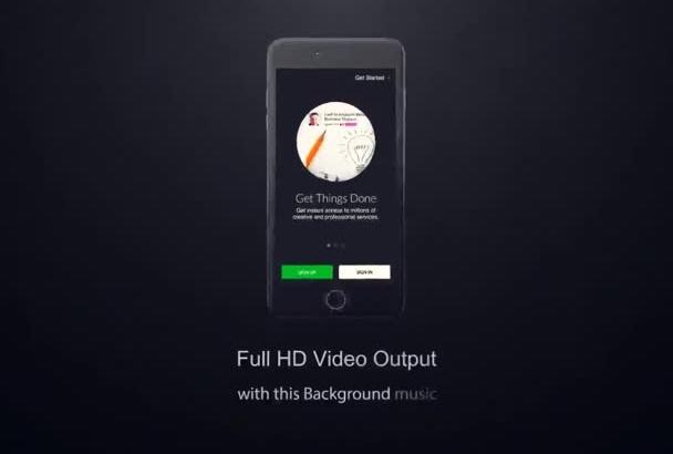 create a iPhone 6,6S app promo video