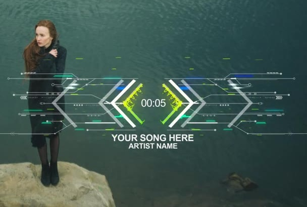 do  custom AUDIO visualizer your song with your background
