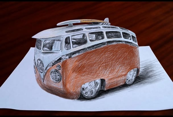 do 3D Drawing of your picture