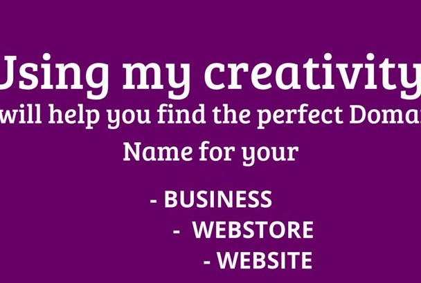 find any available Domain Names for your Business or Niche