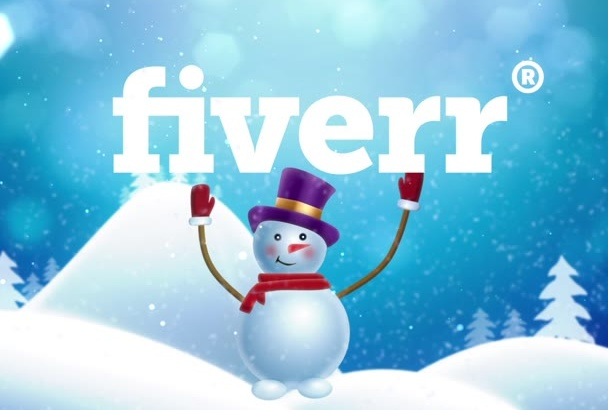 create unique and simple snowman Greeting card