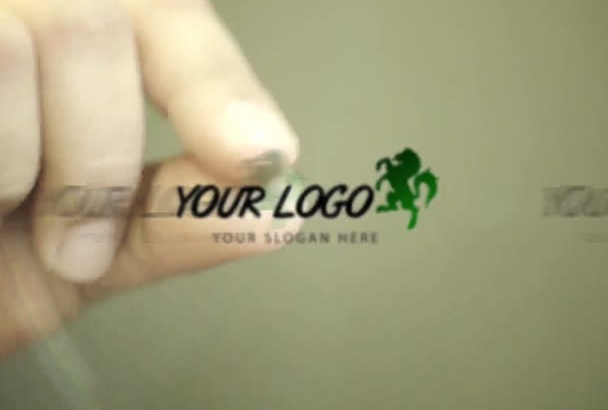 make 3 awesome hand logo intro