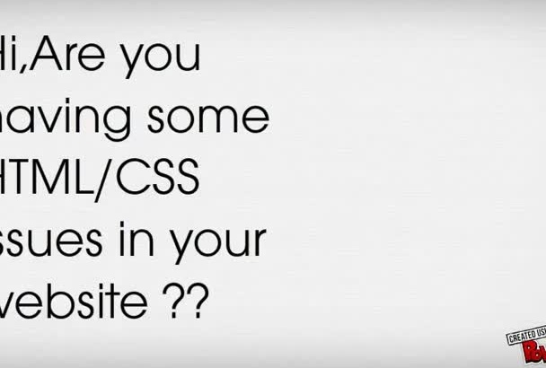 fix css or html issues of your website