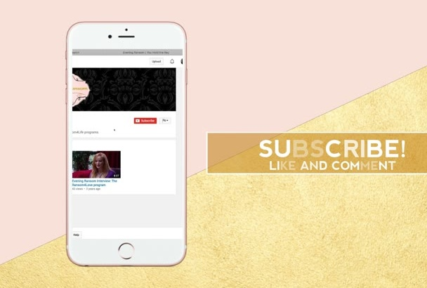 create you a IPhone style YOUTUBE outro