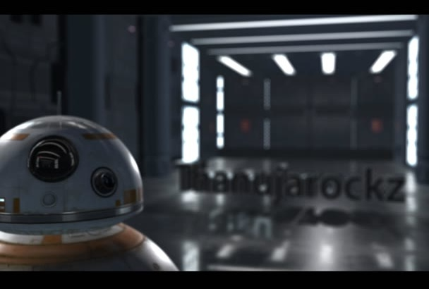 add your name or text into this star wars video