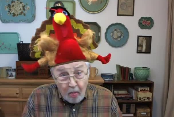 wish someone a Happy Thanksgiving in my Turkey Hat