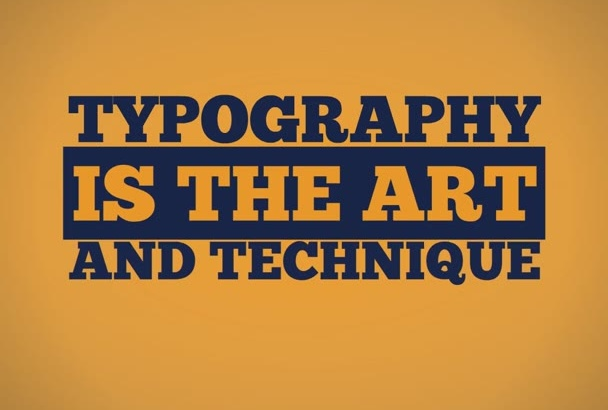 create TYPOGRAPHY intro explainer