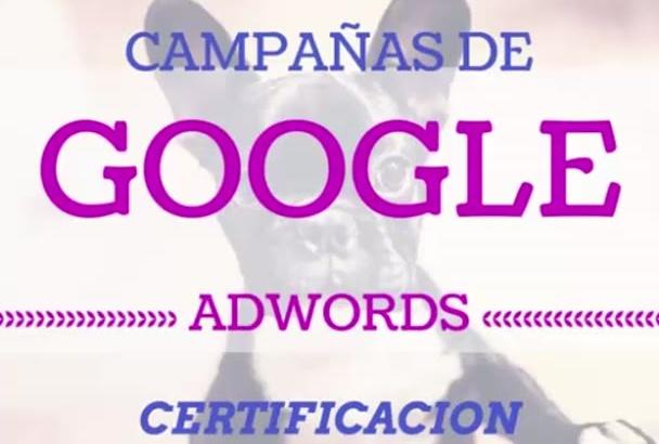 crear tu campaña de Adwords