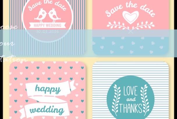 make an original wedding invitation