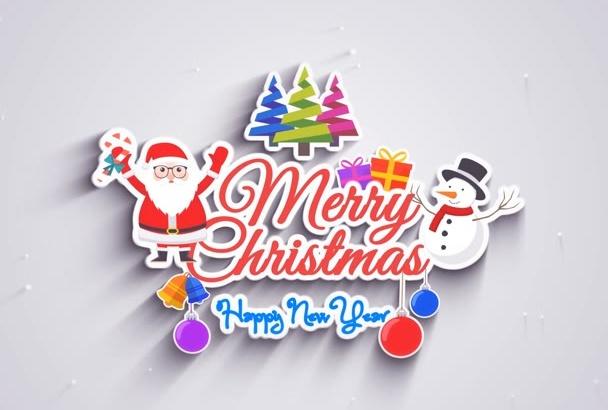 christmas Greeting Logo Intro Video