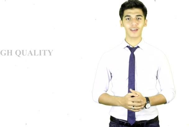 create a professional spokesperson video in HD
