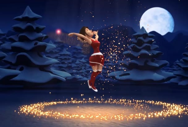 santa Fairy girl wish to your company social media viewers or anything