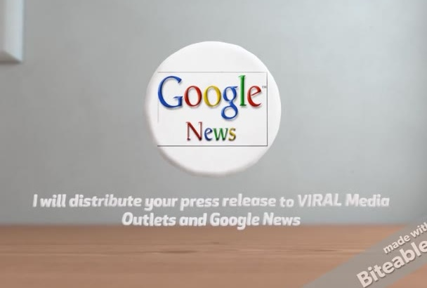 distribute your press release to VIRAL Media Outlets and Google News
