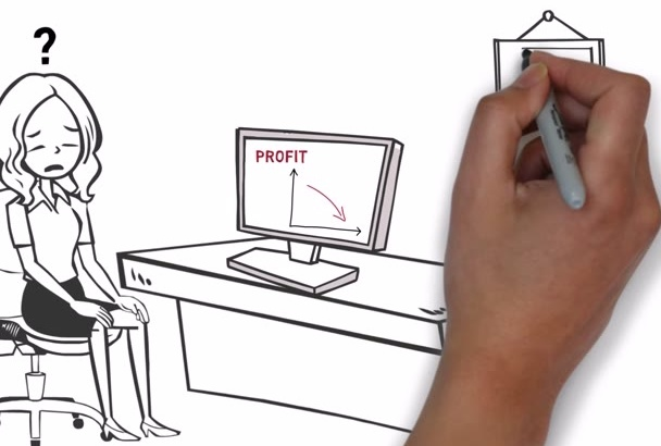 create amazing and unique Whiteboard Animation video