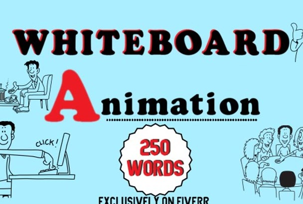 create 250 words whiteboard animation video