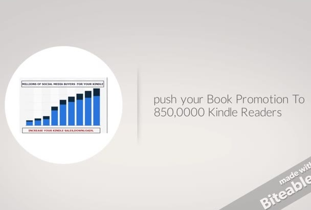 push your Book Promotion To 850,0000 Kindle Readers
