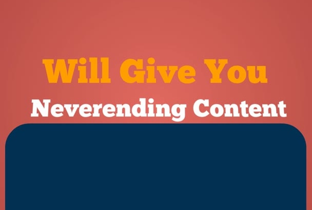 give You Never Ending Content With My 50,000 PLR Collection
