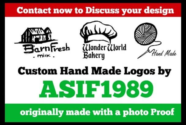 design Hand Made Custom Logo