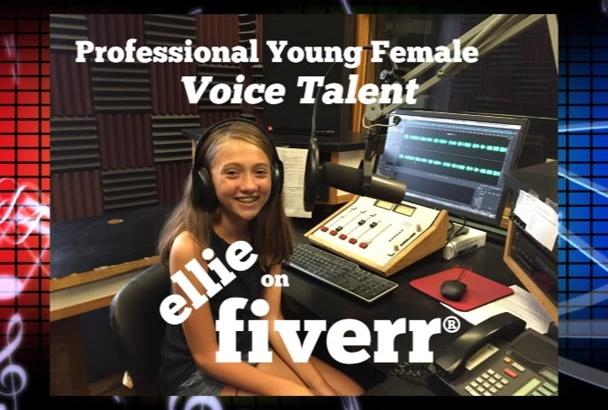 create an audio project as an American kid or teen girl