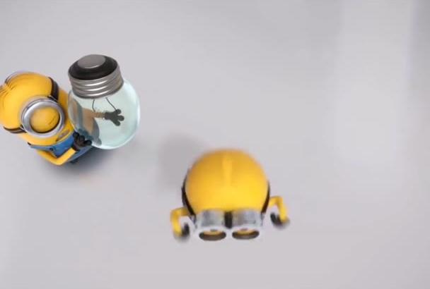 make you Minions changing light bulb promotional video