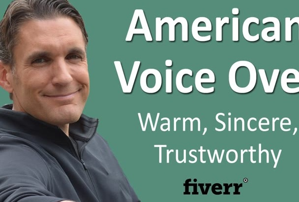 record a believable American male voice over