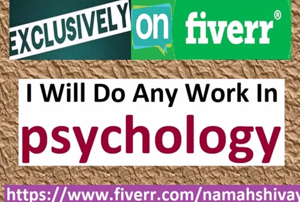 do Any Work In PSYCHOLOGY, Sociology