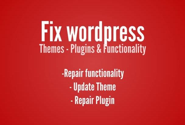 fix wordpress themes plugins functionality