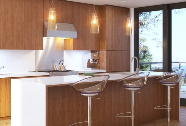 model and render Photo Real images of Interior, Exterior