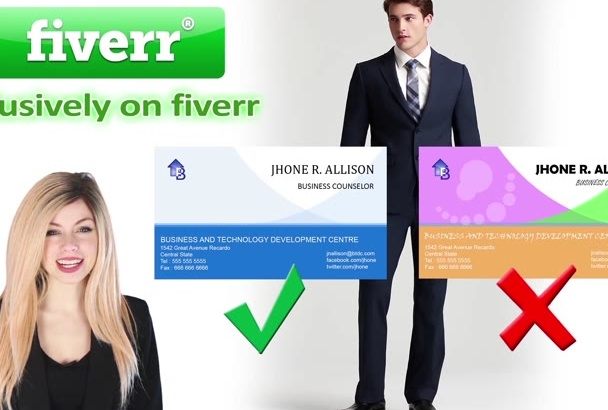 design your BUSINESS card within 10 hours