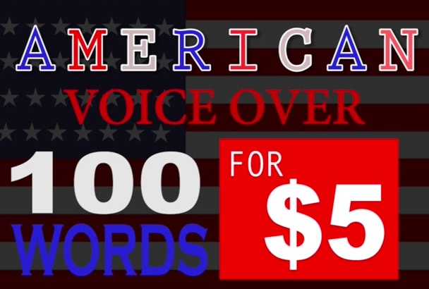 do a professional American voice over TODAY